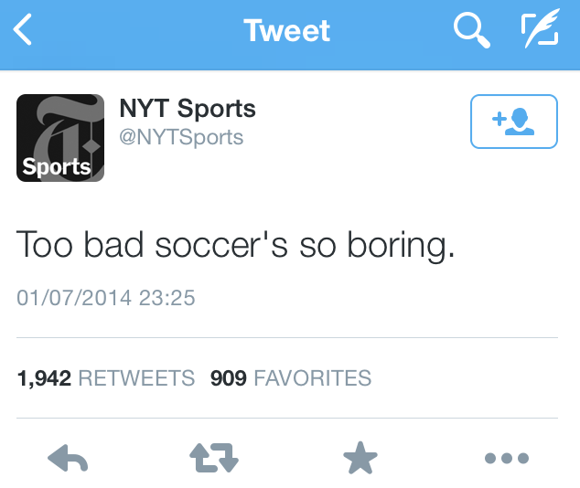 Too bad soccer's so boring