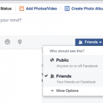 Facebook post options