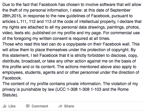FB privacy scare