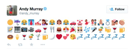 Andy Murray wedding emoji