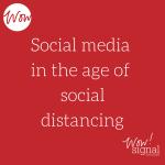 social media social distancing